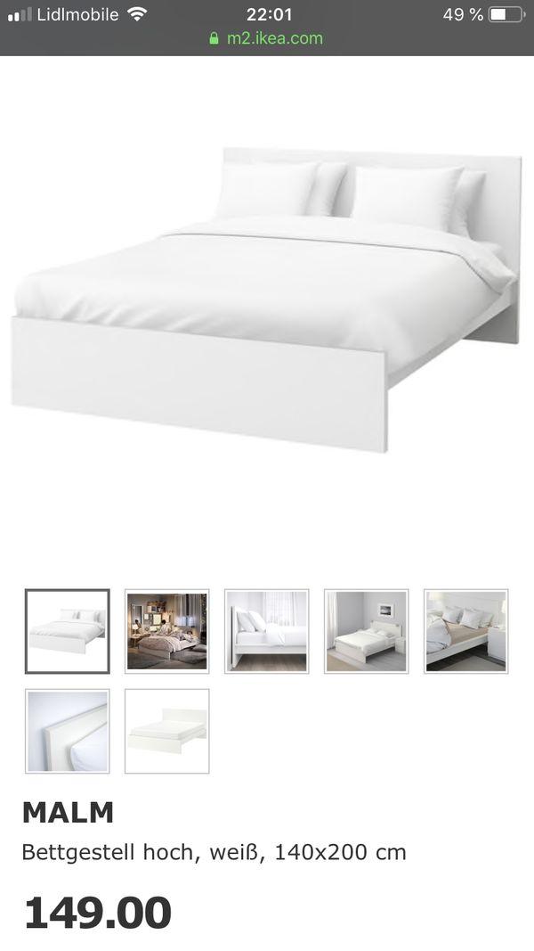 Ikea Malm Bett Weiss Hoch 140x200 In Munchen Ikea Mobel Kaufen Und