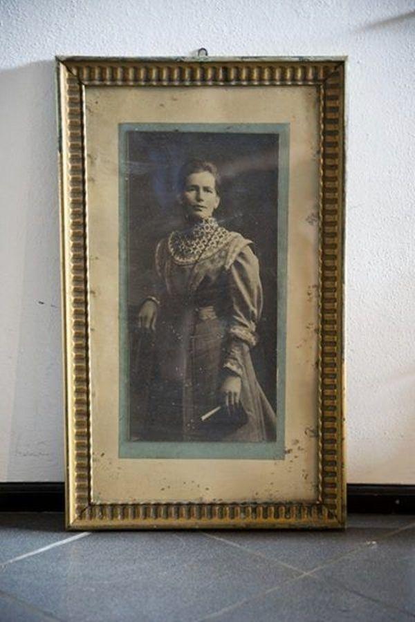 Schöner alter Bilderrahmen incl Portrait in Raisting - Dekoartikel ...