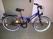 Fahrrad blau 24