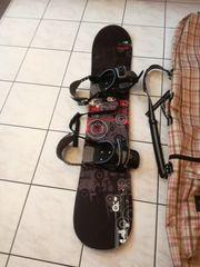 Snowboard mit Zubehör