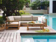 Lounge Set FSC-Holz braun TIMOR