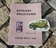 Betriebsanleitung Opel 1,