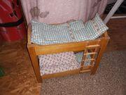 Puppenbett Etagenbett : Puppenbett etagenbett holzbett für puppenmutti