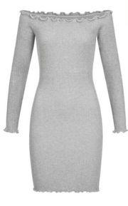 Elegantes graues Kleid