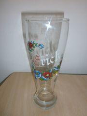 Trinkglas mit Aufschrift