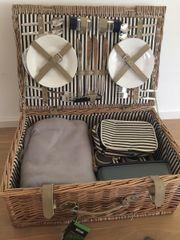 Picknickkorb Weidenkorb Butlers