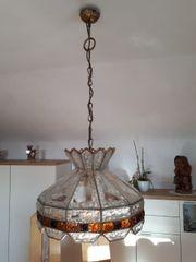 Verkaufe Landhausstil massive Glas-Esszimmerlampe