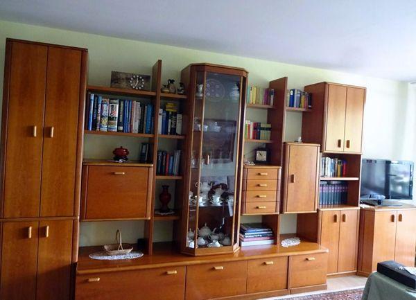 Wohnwand Wohnzimmerschrank Massivholz Furniert Np 7000 Eur In