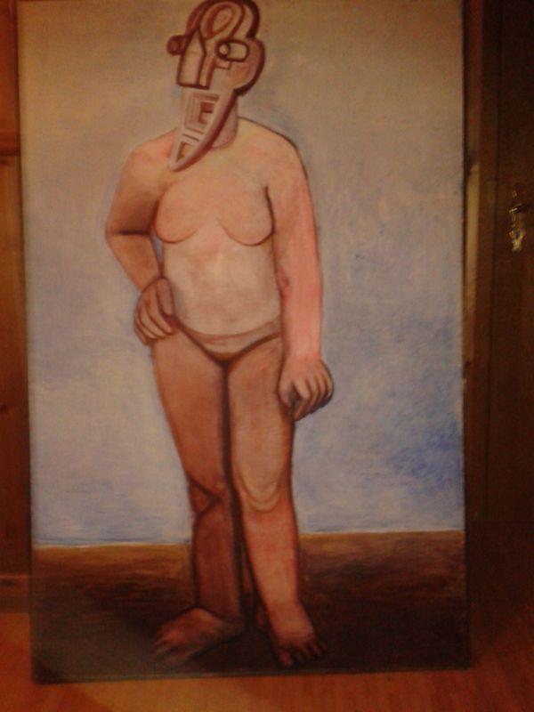 Bil von Zena Maskov - Usingen - von 1989; Größe Höhe 154 cm Breite 100cm - Usingen