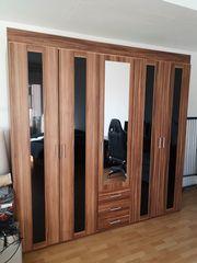 Kleiderschrank Schlafzimmerschrank Nussbaum-Optik TOP