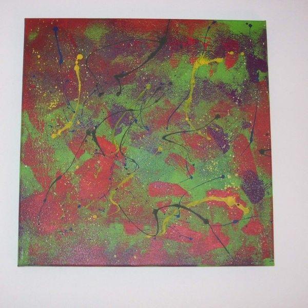 Gemälde Modern Abstrakt 50x50 Cm Wilder Amazona In Karlsruhe Kunst