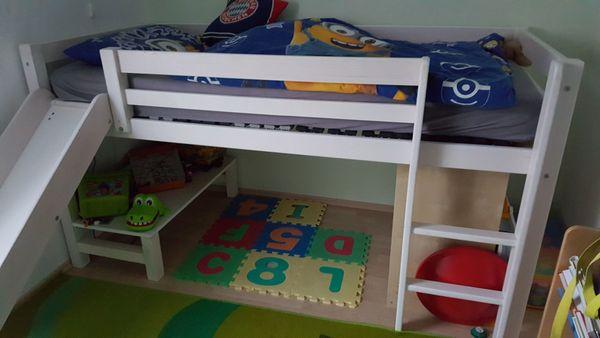 Thuka Etagenbett Mit Rutsche : Weißes hochbett mit rutsche zu verkaufen in lampertheim betten