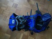 Trekkingrucksack blau schwarz