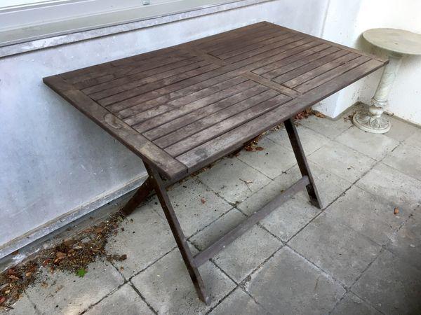 Ikea Gartentisch 115x65 Cm Dunkelbraun Massivholz Tisch In