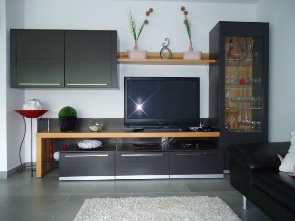 Moderne Wohnwand Mit Beleuchtung In Karlsruhe - Wohnzimmerschränke