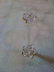 Kerzenständer aus Bleikristal dün