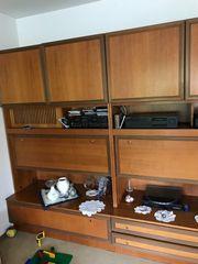 Wohnzimmerschrank Schrankwand Holz