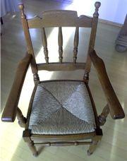 6 Stühle Eiche massiv mit