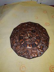 Uhr Wanduhr mit Kupferfolie bezogen