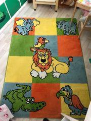 Kinderzimmer Teppich; Tiere;
