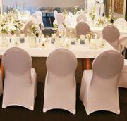 Stuhlhussen Stretch Universal Weiß Hochzeit