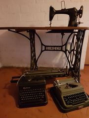 Singer Nähmaschine und Schreibmaschinen