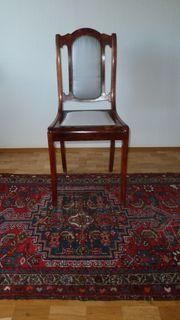 4 Stühle Mahagoni Säbelbeine Biedermeier