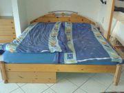 Bett, Doppelbett, Echtholz,