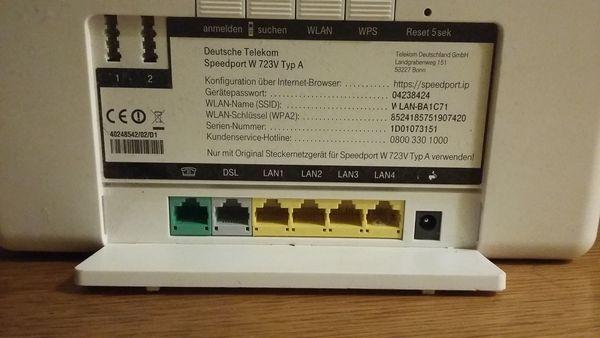 Router Telekom W 724v Weiss In Stuttgart Sonstige Hardware