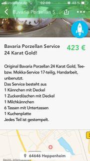 Bavaria Porzellan 24 Karat Gold