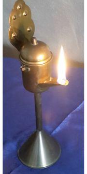 Ölleuchte aus Messing Lampe Licht