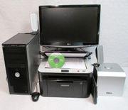 PC Komplettsystem + Drucker/