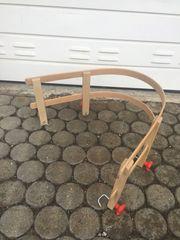 Rückenlehne aus Holz für Schlitten