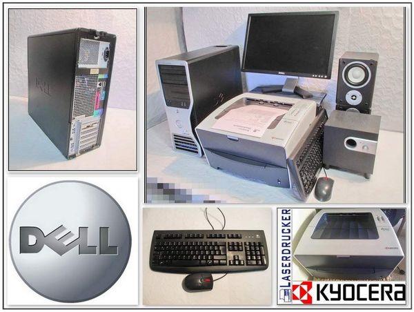 DELL Worstation Komplettsystem + Drucker - Fürstenwalde - DELL PC Komplettsystem besteht aus:Dell Tower, 2o Zoll DELL Monitor, Laserdrucker S/W, Lautsprechersystem, Tastatur, Maus,Dell Precision Tower:- Intel Core 2 Duo E6600/ 2 x 2,4 GHZ- 4 GB Arbeitsspeicher- Grafikkarte AMD RADEON/ 512MB- 200  - Fürstenwalde