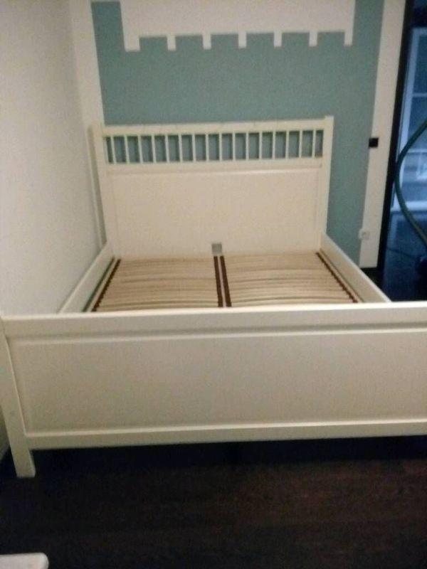 Bett weiß 160x200 landhaus  Schönes Ikea Bett ***160X200***Hemnes , weiß *Landhaus in ...