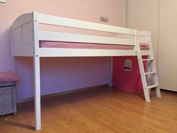 Hochbett Holz Weiß Kinder : Hochbett kinder kinderbetten gebraucht berlin kinderbett weiss