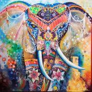 Ölgemälde Elefant