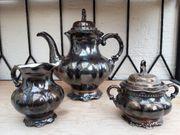Antike versilbert Teekanne