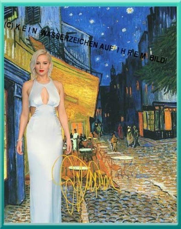 Jennifer Lawrence in van Gogh
