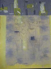 verkaufe grosse Bilderrahmen - Wäschekorb - Malereien