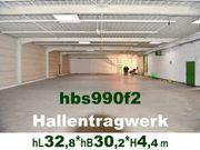 Stahlhallen-Tragwerk 33x15+