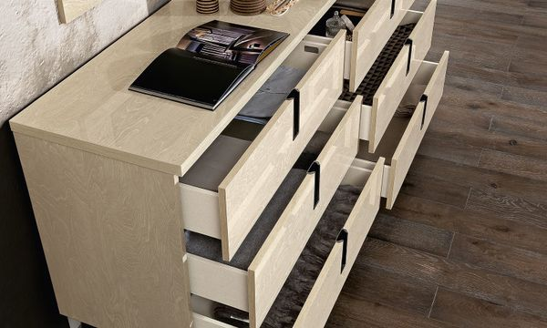 Kommode Sideboard Highboard Schlafzimmer Ambra Beige Birken ...