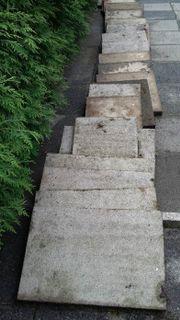 Verschenke Terrassenplatten aus