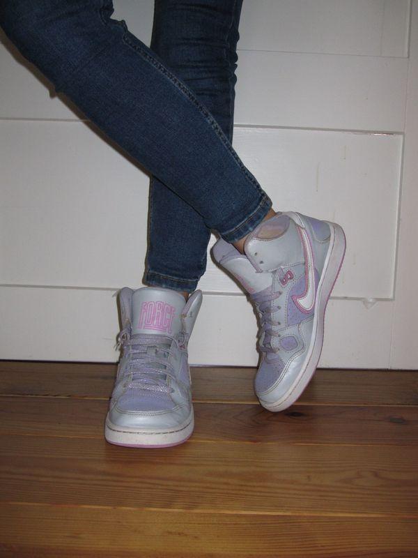 NIKE Air Force Sneaker Sportschuhe Freizeit Gr. 38 Damen lila in ... 96a2a5b40f
