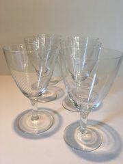 6 traumhaft geschliffene Kelch gläser