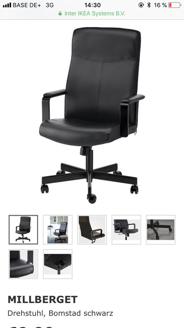 verkaufe Schreibtischstuhl IKEA MILLBERGET in Mannheim - Büromöbel ...