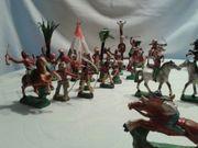 Konvolut Cowboy Indianerfiguren Indianerbücher