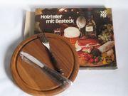 Holzteller mit Besteck Holzbrett für
