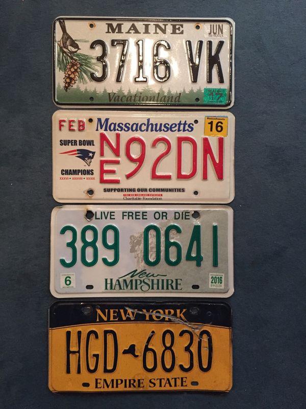 USA Kennzeichen Originale 3 Stück - Starnberg - USA Kennzeichen Originale 3 Stück : Massachssetts, , Maine , New Hampshire (New York ist bereits weg ) , alle Original aus USA ,pro Stück 25 EUR plus 5EUR Porto - Starnberg
