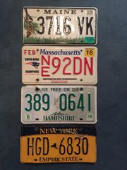 USA Kennzeichen Originale